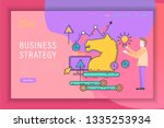business strategy line style... | Shutterstock .eps vector #1335253934