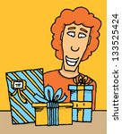 guy receiving gifts | Shutterstock .eps vector #133525424
