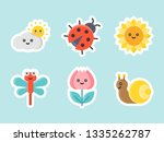 easter and spring flat sticker...   Shutterstock .eps vector #1335262787