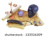 Black Skull With Crystal And...