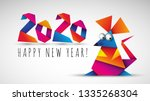 chinese happy new year 2020....   Shutterstock .eps vector #1335268304