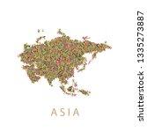 asia continent vector   Shutterstock .eps vector #1335273887