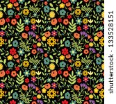 Seamless Multicolored Floral...