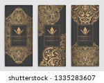 gold and black packaging design ... | Shutterstock .eps vector #1335283607