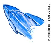blue strokes of oil paint on a... | Shutterstock . vector #1335284657