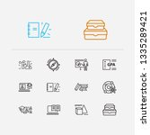 elearning icons set. books and...