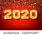 2018 happy new year. gold... | Shutterstock .eps vector #1335291407