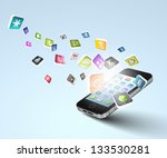media technology illustration... | Shutterstock . vector #133530281