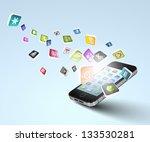 media technology illustration...   Shutterstock . vector #133530281