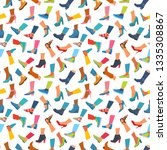 seamless pattern. icons of... | Shutterstock .eps vector #1335308867