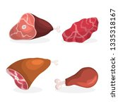 set of ham. collection of tasty ... | Shutterstock .eps vector #1335318167