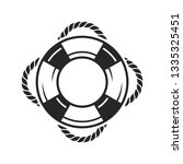 life ring icon vector on white... | Shutterstock .eps vector #1335325451