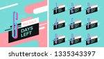 number days left countdown... | Shutterstock .eps vector #1335343397