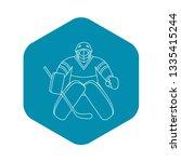 hockey goalkeeper icon. outline ...   Shutterstock .eps vector #1335415244