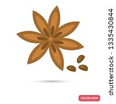 anise star color flat icon for... | Shutterstock .eps vector #1335430844