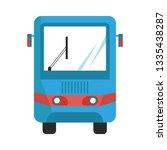 modern bus symbol  stylized bus ... | Shutterstock .eps vector #1335438287