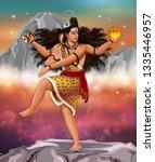 nataraja the lord of dance. he...   Shutterstock . vector #1335446957