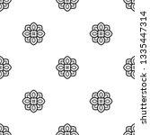 simple hindu floral print in... | Shutterstock .eps vector #1335447314