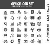 office icon set. editable... | Shutterstock .eps vector #1335456191