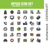 office icon set. editable... | Shutterstock .eps vector #1335456197