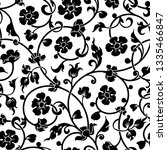 abstract flowers baroque... | Shutterstock . vector #1335466847