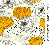 floral background. seamless... | Shutterstock .eps vector #1335467441