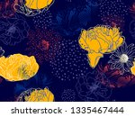 floral background. seamless... | Shutterstock .eps vector #1335467444
