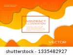 dynamic style orange wave... | Shutterstock .eps vector #1335482927