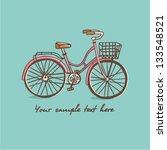 vintage bicycle. vector... | Shutterstock .eps vector #133548521