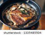 overhead shot of chef preparing ...   Shutterstock . vector #1335485504