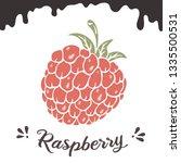 raspberry vector illustration ...   Shutterstock .eps vector #1335500531