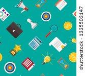 loudspeaker or megaphone and... | Shutterstock .eps vector #1335503147