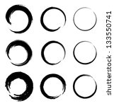 set of grunge circle stains ... | Shutterstock . vector #133550741