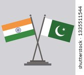 flag of india and flag of...   Shutterstock .eps vector #1335511544