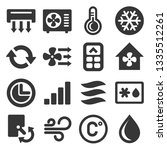 air conditioner icons set on...   Shutterstock . vector #1335512261