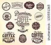 set of vintage retro coffee... | Shutterstock .eps vector #133551365