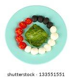 cheese mozzarella with... | Shutterstock . vector #133551551