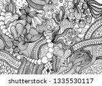 hand drawn doodle backdrop... | Shutterstock .eps vector #1335530117