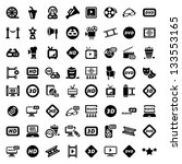 big elegant movie icons set...   Shutterstock .eps vector #133553165