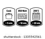 cook minutes vector icon. 5  10 ... | Shutterstock .eps vector #1335542561