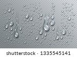 water rain drops or... | Shutterstock .eps vector #1335545141