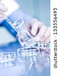 doctor with test tube in a... | Shutterstock . vector #133556495