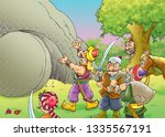 ali baba and the forty thieves | Shutterstock . vector #1335567191