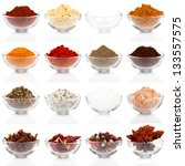 Variety Of Different Spices In...