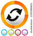 swap  flip icon. circular  oval ... | Shutterstock .eps vector #1335580601