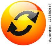 swap  flip icon. circular  oval ... | Shutterstock .eps vector #1335580664