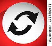 swap  flip icon. circular  oval ... | Shutterstock .eps vector #1335580691