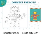 connect the dots kids game... | Shutterstock .eps vector #1335582224