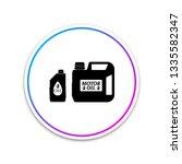 plastic canister for motor... | Shutterstock .eps vector #1335582347