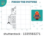 copy and complete the picture... | Shutterstock .eps vector #1335583271